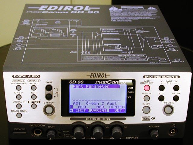 Der StudioCanvas SD-90 von Edirol aus dem Jahr 2001