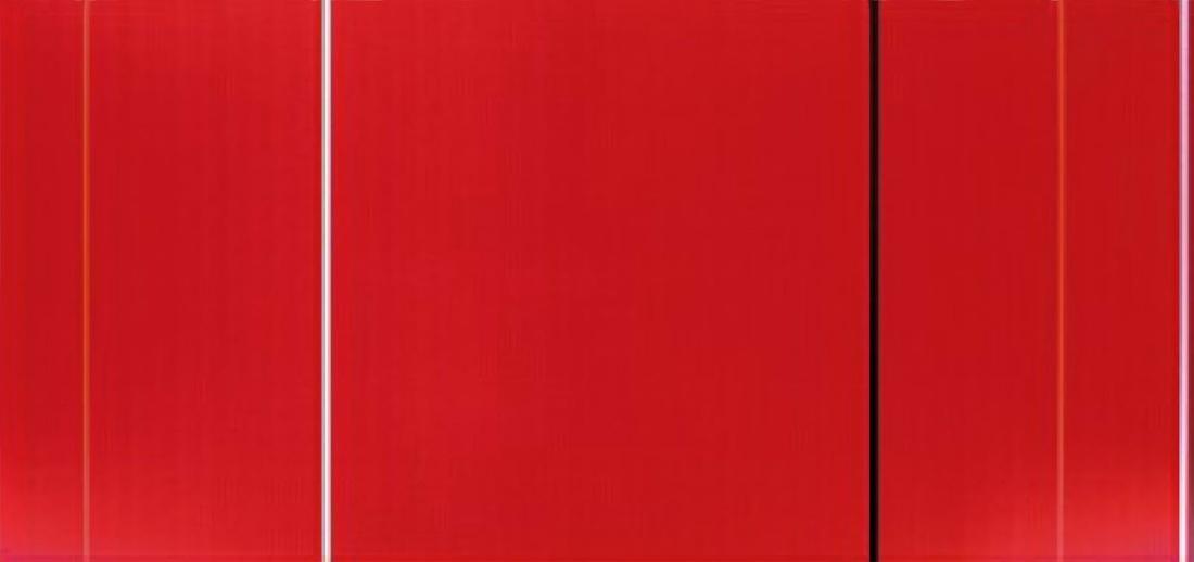Barnett Newman: Vir Heroicus Sublimis, 1951 [Originalmaße 242 x 514 cm]